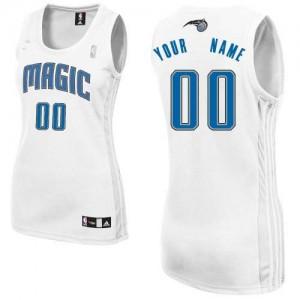 Maillot Adidas Blanc Home Orlando Magic - Authentic Personnalisé - Femme