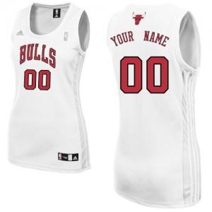Chicago Bulls Personnalisé Adidas Home Blanc Maillot d'équipe de NBA la meilleure qualité - Authentic pour Femme