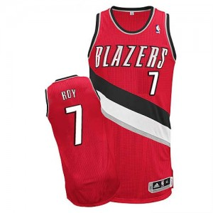 Portland Trail Blazers Brandon Roy #7 Alternate Authentic Maillot d'équipe de NBA - Rouge pour Homme