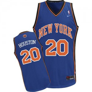 Maillot Nike Bleu royal Throwback Authentic New York Knicks - Allan Houston #20 - Homme