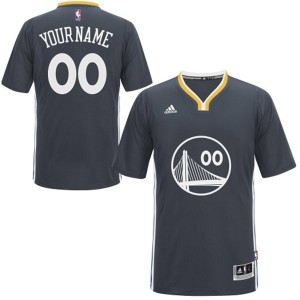 Maillot Adidas Noir Alternate Golden State Warriors - Authentic Personnalisé - Homme