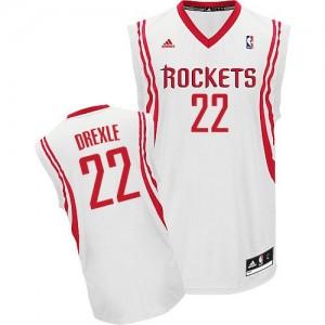 Maillot NBA Houston Rockets #22 Clyde Drexler Blanc Adidas Swingman Home - Homme