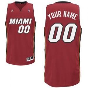 Miami Heat Personnalisé Adidas Alternate Rouge Maillot d'équipe de NBA magasin d'usine - Swingman pour Enfants