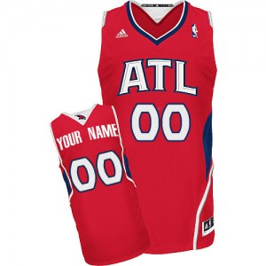 Maillot NBA Atlanta Hawks Personnalisé Swingman Rouge Adidas Alternate - Femme