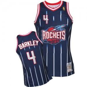 Houston Rockets #4 Mitchell and Ness Hardwood Classic Fashion Bleu marin Authentic Maillot d'équipe de NBA vente en ligne - Charles Barkley pour Homme