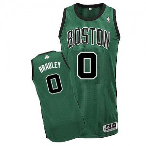 Maillot NBA Boston Celtics #0 Avery Bradley Vert (No. noir) Adidas Authentic Alternate - Homme