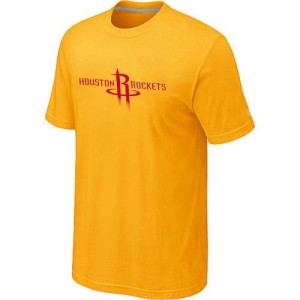 Houston Rockets Big & Tall Jaune Tee-Shirt d'équipe de NBA Vente - pour Homme
