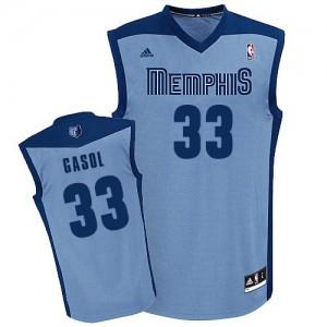 Maillot NBA Memphis Grizzlies #33 Marc Gasol Bleu clair Adidas Swingman Alternate - Homme