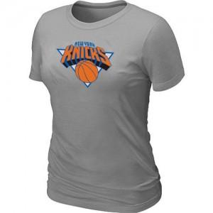 New York Knicks Big & Tall Gris Tee-Shirt d'équipe de NBA magasin d'usine - pour Femme
