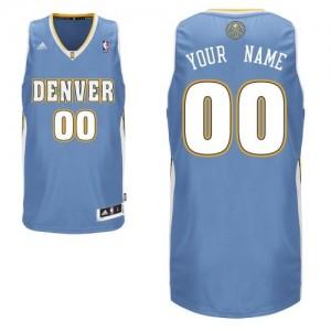 Maillot NBA Swingman Personnalisé Denver Nuggets Road Bleu clair - Homme