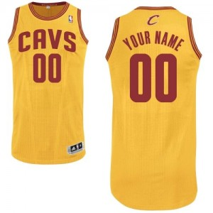 Maillot NBA Authentic Personnalisé Cleveland Cavaliers Alternate Or - Homme