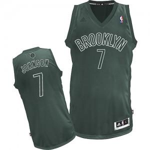 Maillot Adidas Gris Big Color Fashion Swingman Brooklyn Nets - Joe Johnson #7 - Homme