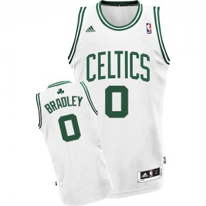 Maillot NBA Blanc Avery Bradley #0 Boston Celtics Home Swingman Homme Adidas