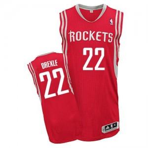 Houston Rockets Clyde Drexler #22 Road Authentic Maillot d'équipe de NBA - Rouge pour Homme
