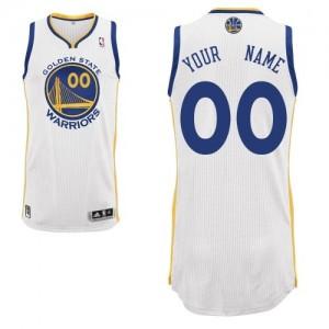 Golden State Warriors Authentic Personnalisé Home Maillot d'équipe de NBA - Blanc pour Enfants