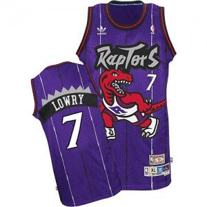 Maillot NBA Toronto Raptors #7 Kyle Lowry Violet Adidas Swingman Hardwood Classics - Homme