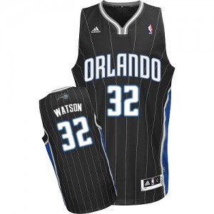 Orlando Magic #32 Adidas Alternate Noir Swingman Maillot d'équipe de NBA Magasin d'usine - C.J. Watson pour Homme