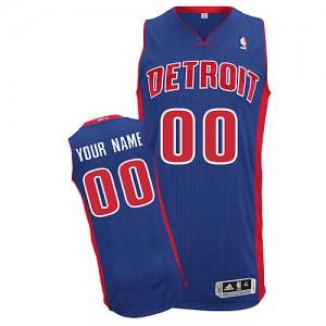 Maillot NBA Detroit Pistons Personnalisé Authentic Bleu royal Adidas Road - Homme