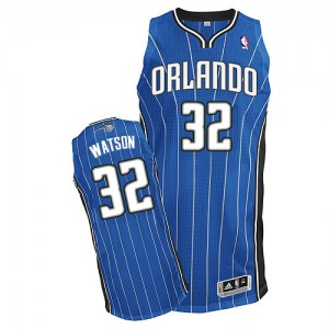 Maillot Adidas Bleu royal Road Authentic Orlando Magic - C.J. Watson #32 - Homme