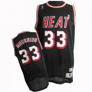 Maillot Swingman Miami Heat NBA Throwback Noir - #33 Alonzo Mourning - Homme