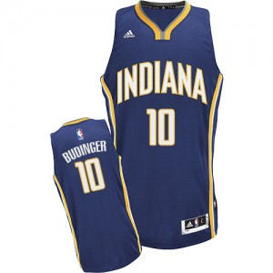 Indiana Pacers #10 Adidas Road Bleu marin Swingman Maillot d'équipe de NBA Braderie - Chase Budinger pour Homme