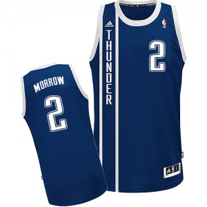 Maillot NBA Bleu marin Anthony Morrow #2 Oklahoma City Thunder Alternate Swingman Homme Adidas