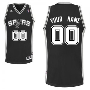 Maillot San Antonio Spurs NBA Road Noir - Personnalisé Swingman - Enfants