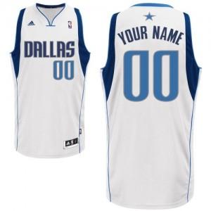 Maillot NBA Dallas Mavericks Personnalisé Swingman Blanc Adidas Home - Enfants