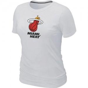 Tee-Shirt Blanc Big & Tall Miami Heat - Femme
