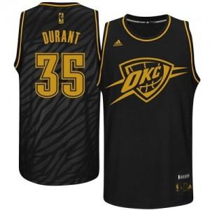 Oklahoma City Thunder #35 Adidas Precious Metals Fashion Noir Swingman Maillot d'équipe de NBA Vente pas cher - Kevin Durant pour Homme