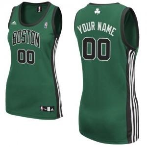 Maillot NBA Swingman Personnalisé Boston Celtics Alternate Vert (No. noir) - Femme