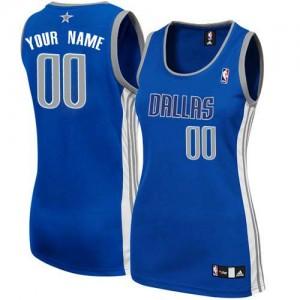 Dallas Mavericks Authentic Personnalisé Alternate Maillot d'équipe de NBA - Bleu marin pour Femme
