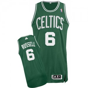 Maillot NBA Authentic Bill Russell #6 Boston Celtics Road Vert (No Blanc) - Homme