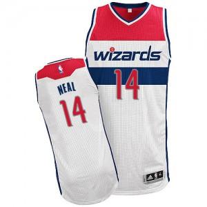 Washington Wizards Gary Neal #14 Home Authentic Maillot d'équipe de NBA - Blanc pour Homme