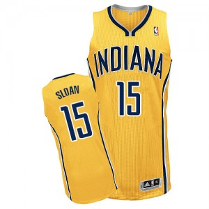 Indiana Pacers #15 Adidas Alternate Or Authentic Maillot d'équipe de NBA en soldes - Donald Sloan pour Homme