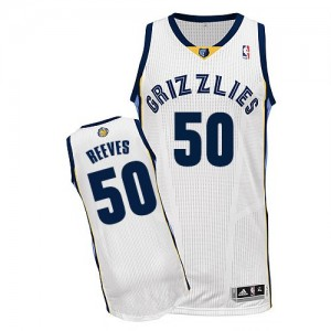 Maillot NBA Blanc Bryant Reeves #50 Memphis Grizzlies Home Authentic Homme Adidas