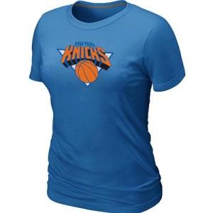 T-shirt principal de logo New York Knicks NBA Big & Tall Bleu clair - Femme