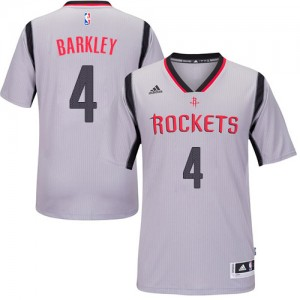 Maillot NBA Gris Charles Barkley #4 Houston Rockets Alternate Authentic Homme Adidas
