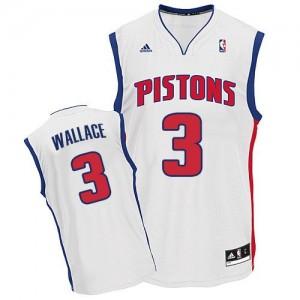 Maillot Swingman Detroit Pistons NBA Home Blanc - #3 Ben Wallace - Homme