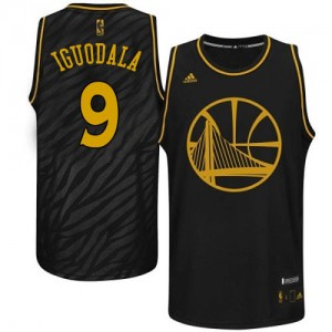 Golden State Warriors Andre Iguodala #9 Precious Metals Fashion Authentic Maillot d'équipe de NBA - Noir pour Homme