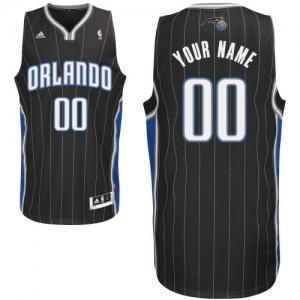 Orlando Magic Personnalisé Adidas Alternate Noir Maillot d'équipe de NBA Remise - Swingman pour Femme