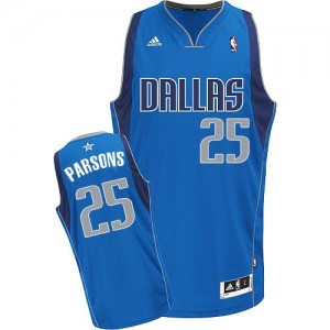 Maillot NBA Dallas Mavericks #25 Chandler Parsons Bleu royal Adidas Swingman Road - Homme