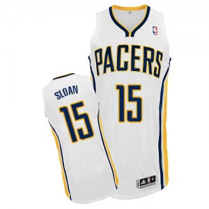 Maillot NBA Authentic Donald Sloan #15 Indiana Pacers Home Blanc - Homme