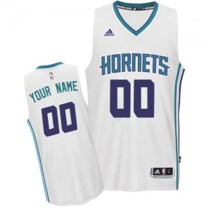 Charlotte Hornets Authentic Personnalisé Home Maillot d'équipe de NBA - Blanc pour Homme