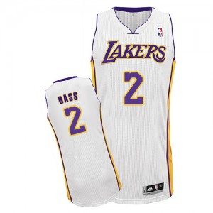 Maillot NBA Authentic Brandon Bass #2 Los Angeles Lakers Alternate Blanc - Homme