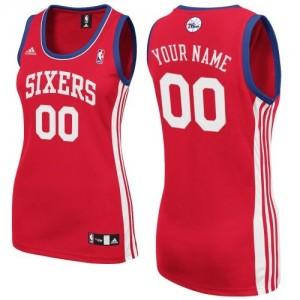 Maillot Philadelphia 76ers NBA Road Rouge - Personnalisé Swingman - Femme