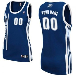 Maillot NBA Bleu marin Authentic Personnalisé Oklahoma City Thunder Alternate Femme Adidas