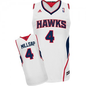 Maillot NBA Swingman Paul Millsap #4 Atlanta Hawks Home Blanc - Homme