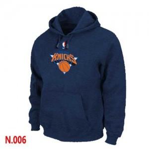 New York Knicks Sweat à capuche d'équipe de NBA - Marine pour Homme