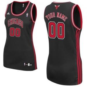 Chicago Bulls Personnalisé Adidas Alternate Noir Maillot d'équipe de NBA pas cher - Swingman pour Femme